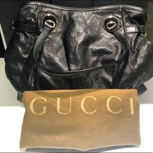 Gucci Black Guccissima Leather Tote
